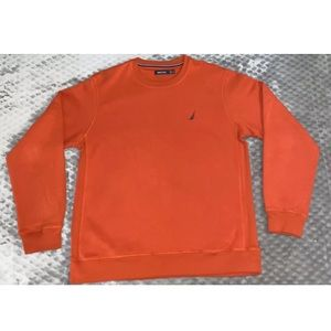 NAUTICA Knitted Sweatshirt Jumper Orange | Size XL